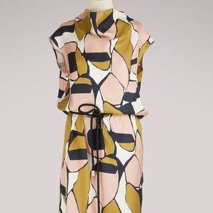 Marc Jacobs 💯 Silk Patterned Cowl Neck Midi Dress